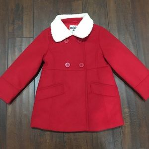 Osh Kosh B'gosh Red Coat Size 5